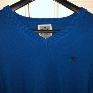 Express Blue V-neck Sweater. XL. EUC